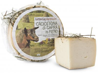 Goats Milk Caciotta hay Flavoured cibo valsana cheese suppliers london, Valsana, Cibo, Cheese, Supplier, Importer, Wholesaler, Italian, formaggio